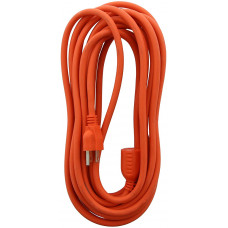 Bright-Way Outdoor Extention Cord Heavy Duty 1 pack 1Ct Safety Orange Color 15Ft Grounded