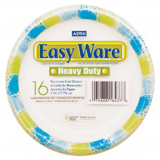 Aspen Easy Ware Plastic Coated Paper Plates 7In 2 pack 16Ct