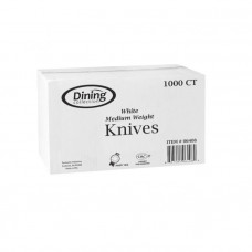 D/C White Plastic Bulk 1 Pack 1000Ct Knives