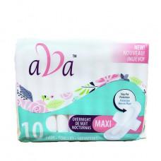 Ava Sanitary Pads 2 Pack 10Ct Maxi Overnight