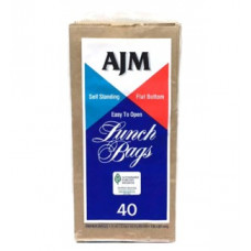 Ajm Lunch Bags 2 Pack 40Ct Brown