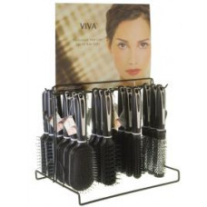 Dura K Hairbrushes 1 pack 1Ct Black/White Metal Display