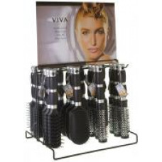 Dura K Hairbrushes 1 Pack 1Ct  Viva 2 Rubber Grip Metal Display