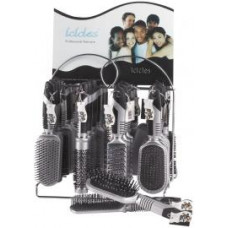 Dura K Hairbrushes  24 Pack 1Ct Icicles  Metal Display