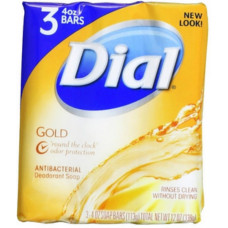 Dial S/Bar 4Oz 18 pack 3Ct Gold