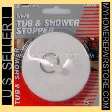 Aqua Plumb Rubber Stopper 4 pack 1ct Fit All Bassin
