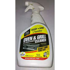 Clean'N Done Oil & Grease Remover Oven & Grill Cleaner 1 pack 32oz Daily Use (Yellow) Kosher For Passover