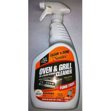 Clean'N Done Oil & Grease Remover Oven & Grill Cleaner 1 pack 32oz E/Strength (Green) Kosher For Passover