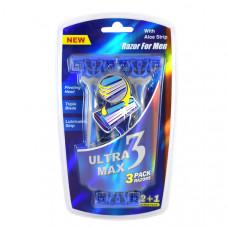 Ultra Max Razor 1 Pack 3Pk Men With Aloe Strip Blue