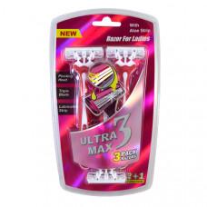 Ultra Max Razor 1 Pack 3Pk Ladies With Aloe Strip Pink