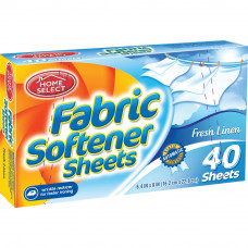 Home Select Fabric Softener Sheets 1 pack 40Ct Fresh Linen