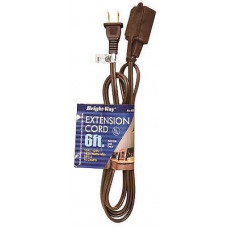 Bright-Way Household Extention Cord 1 pack 1Ct 6Ft Brown