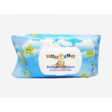 Babyish Baby Wipes Refill 1 Pack 80Ct FlipTop Blue