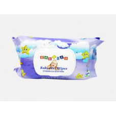 Babyish Baby Wipes Refill 1 Pack 80Ct FlipTop Purple