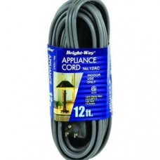 Bright-Way 12Ft Appliance Cord 1 pack 1Ct