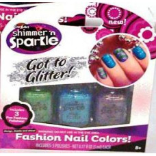 Craz Art Shimmer'n Sparkle Fashion Nail Colord 6 pack 3Ct