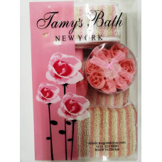 Tamy's Bath Bath 5 Pcs Set 1 Pack 1Ct Pink