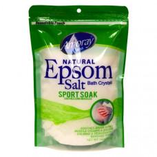 Amoray Epsom Salt Bag 1 Pack 16Oz Sport Soak