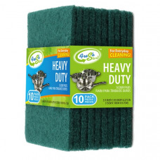Sponges H/Duty Scour Pad 48  Pack 10Ct Green Fresh Start