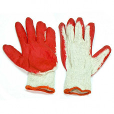 Working Gloves String  Knit Latex Dipped 1 pack 10 Pairs Glwkrp