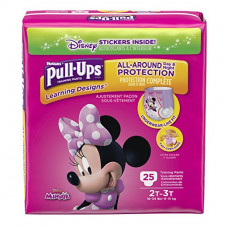 Huggies Pull-Ups Learning Designs Training Pants 4 Pack 25Ct Girls' 2T-3T