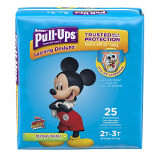 Huggies Pull-Ups Learning Designs Training Pants 4 Pack 25Ct Boys' 2T-3T