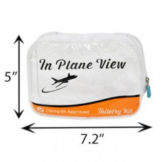 Airline-Approved Carry-On Luggage Organizer, Clear Zipper Makeup Bag (1 Quart) 1 Pack 1Ct