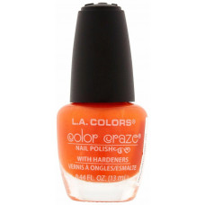 L.A. Colors Nail Polish W/Hardener 1 pack 1Ct Perfect Sunset