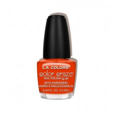 L.A. Colors Nail Polish W/Hardener 1 pack 1Ct Moody Red