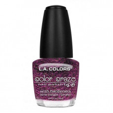 L.A. Colors Nail Polish W/Hardener 1 pack 1Ct Glistening Purple