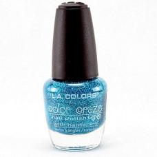 L.A. Colors Nail Polish W/Hardener 1 pack 1Ct Aqua Crystals