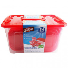 Fresh Guard Storage Container Set 54Pk 8 Pack 1Ct Red