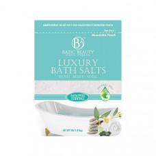 Bazic Beauty Luxury Bath Salt Bag 1 Pack 4Lb Eucalyptus Essentials