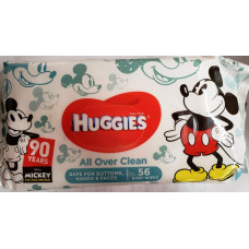 Huggies Baby Wipes 1 Pack 56Ct Refill Disney Mickey Limited Edition
