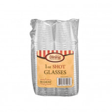 Dining Collection 1oz Shot Cups 1 pack 50Ct Crystal Clear