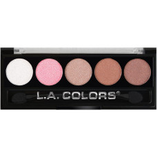 L.A. Colors 5 Colors Metallic Eyeshadow 1 pack 1Ct Unforgettable