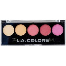 L.A. Colors 5 Colors Metallic Eyeshadow 1 pack 1Ct Wildflowers