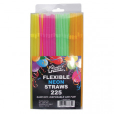 Straw Neon Color 1 Pack 225Ct Flexible  Pvc Box