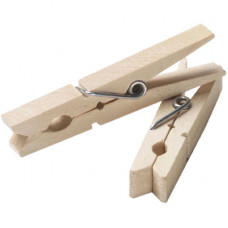 Wood Clothes Pins 1 Pack 24Ct