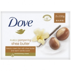 Dove S/Bar 1 pack 2Ct 100G Shea Butter