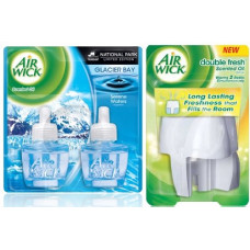 Air Wick Double Fresh Scented Warmer + 2Ct Refill 1 pack 1.34oz Serene Waters (Box)