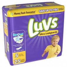 Luvs Diapers Jumbo 4 Pack 25Ct With Night Lock #5