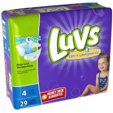 Luvs Ultra Leakguards With Night Lock 4 pack 24Ct #3