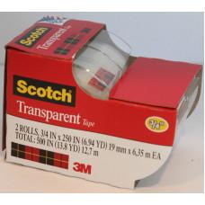 3M Transparent Tape  3/4