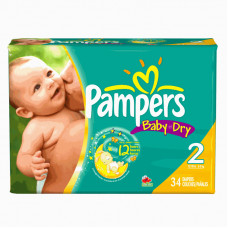 Pampers Diapers Baby Dry 4 Pack 34Ct #2