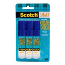 3M Scotch Smart Washable Glue Sticks 1 pack 3Pk