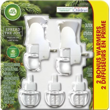 Air Wick Oil 2 Warmer + 5 Refill 2 pack 1Ct Fall Woodland Pine