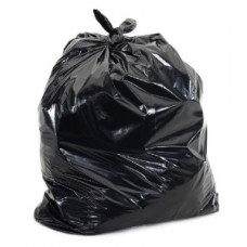 Trash Bags 1 pack 100Ct 23X17X46 1.5Ml Black 45 Gallon